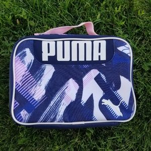 Puma lunch box! Cute pink and blue